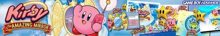 Banner von Kirby & The Amazing Mirror nach der Registrierung